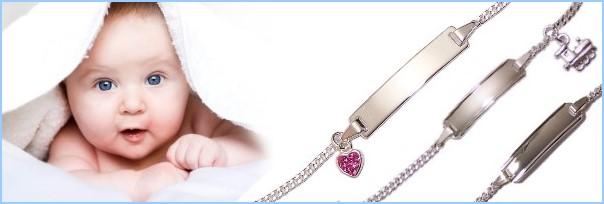 am modischsten unschlagbarer Preis günstig kaufen Kinderarmband mit Gravur, Babyarmband mit Gravur, in Silber