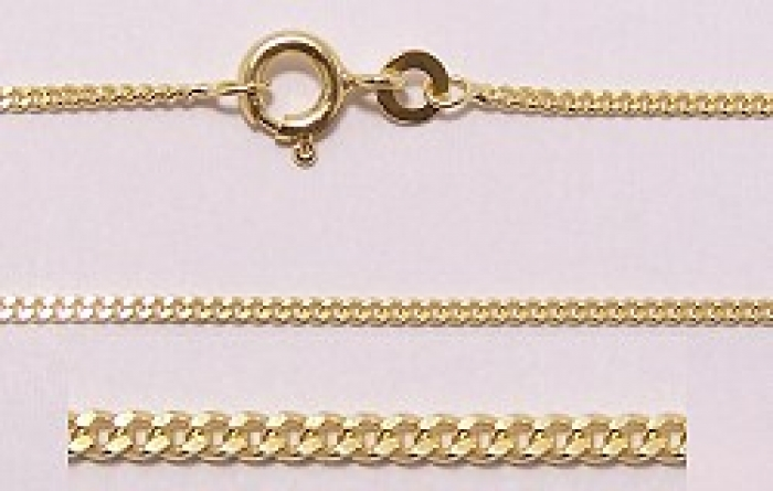 panzer kette f r taufanh nger und kinderanh nger 40 cm lang 333 gold. Black Bedroom Furniture Sets. Home Design Ideas